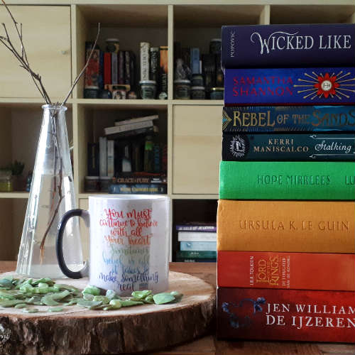 one of my bookstagram posts